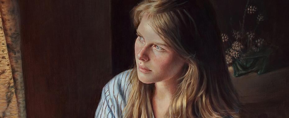 ''ATTENDRE LA LUMIÈRE'', 30''x24''po. acrylique sur toile. Collection privée.