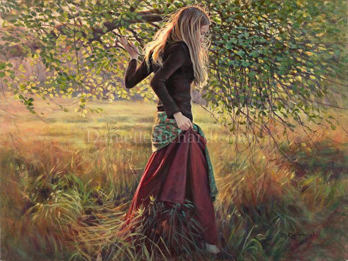 Brigitte sous l'arbre